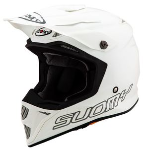 Casque cross MX SPEED - PLAIN - WHITE 2019 Blanc