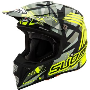 Casque cross MX SPEED MIPS  - SERGEANT - MATT GREY YELLOW FLUO 2021 Matt Grey Yellow Fluo
