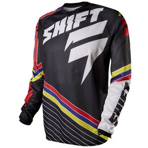 Maillot Cross Shift Destockage Strike - Stripes - Black 2015