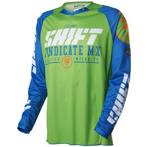 Maillot Cross Shift Destockage Strike Jersey Blue/green 2016