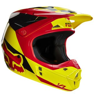 Casque cross V1 MAKO YELLOW  2016 Jaune