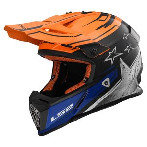 Casque cross MX437 - FAST  - CORE MATT BLACK ORANGE 2019 Matt Black Gloss Orange