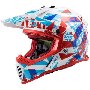 Casque cross MX437 - FAST EVO - FUNKY - RED WHITE 2021 Red White