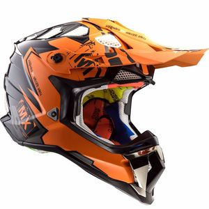 Casque cross MX470 - SUBVERTER - EMPEROR BLACK ORANGE 2019 Black / Orange