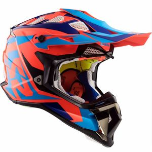Casque cross MX470 - SUBVERTER - NIMBLE BLACK BLUE ORANGE 2019 Black / Blue / Orange