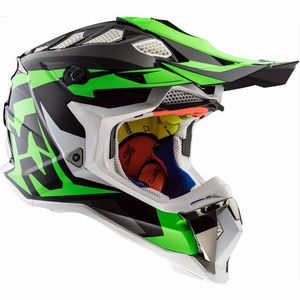 Casque Cross Ls2 Mx470 Subverter Nimble Black / White/ Green 2017