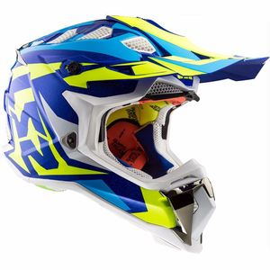Casque cross MX470 - SUBVERTER - NIMBLE BLUE H-V YELLOW 2019 White / Blue / H-V Yellow