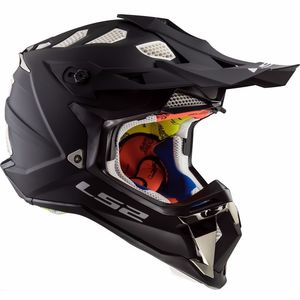 Casque cross MX470 - SUBVERTER - SOLID MATT BLACK 2019 MATT BLACK