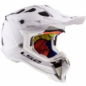 Casque Cross Ls2 Mx470 Subverter Solid White 2017