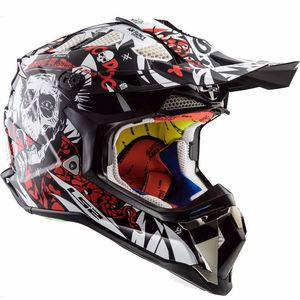 Casque Cross Ls2 Mx470 Subverter Voodoo Black / White / Red 2017