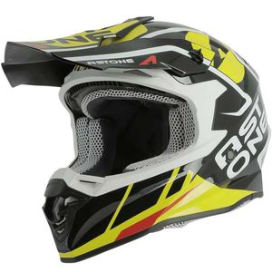 Casque cross MX800 - TROPHY - GLOSS BLACK 2019 Noir