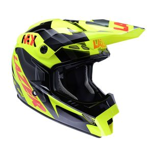 Casque cross MX8 PURE GLASS GEOPOP 2017 Jaune/Noir