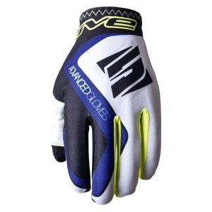 Gants Cross Five Mx Practice White Blue 2018