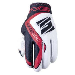 Gants cross MX PRACTICE WHITE RED 2018 Blanc/Rouge