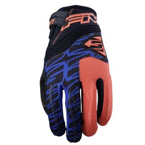Gants cross MXF2 FLUO ORANGE BLUE 2019 Orange