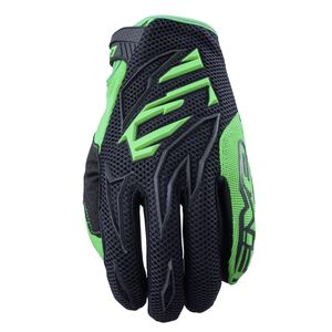 Gants cross MXF3 BLACK FLUO GREEN 2019 Vert
