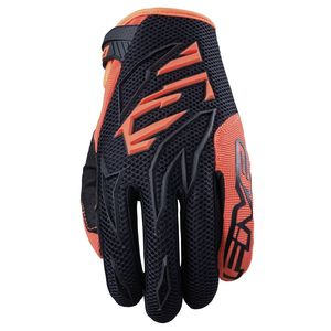 Gants cross Five MXF3 BLACK FLUO ORANGE 2021
