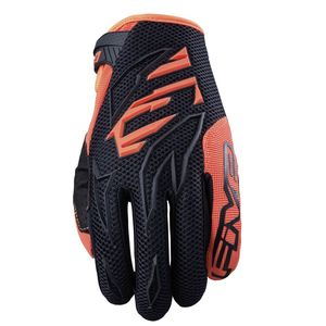 Gants cross MXF3 ENFANT BLACK / FLUO ORANGE  Noir/Orange