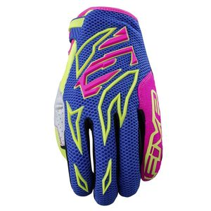 Gants cross MXF3 ENFANT FLASH  Bleu