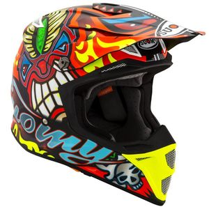 Casque cross MX SPEED - TRIBAL 2019 Red Yellow Blue