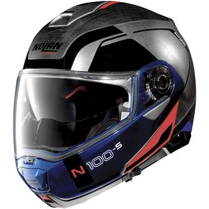 Casque Nolan N100.5 Consistency N-com Scratched Chrome