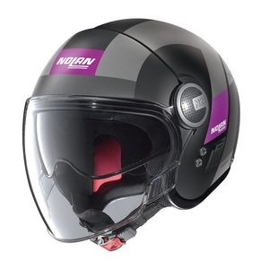 Casque N21 VISOR - SPHEROID - PURPLE  Flat Black 52