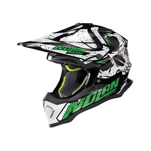 Casque cross N53 - BUCCANEER - BLACK GREEN 2019 Glossy Black 52