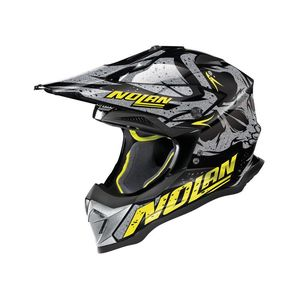 Casque cross N53 - BUCCANEER - BLACK YELLOW 2019 Glossy Black 53