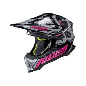 Casque cross N53 - BUCCANEER - BLACK PURPLE 2019 Glossy Black 54