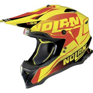 Casque Cross Nolan N53 Sidewinder Led Yellow 2018