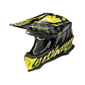 Casque cross N53 - SKELETON - BLACK YELLOW 2019 Glossy Black 56