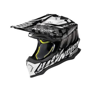 Casque cross N53 - SKELETON - BLACK WHITE 2019 Glossy Black 57