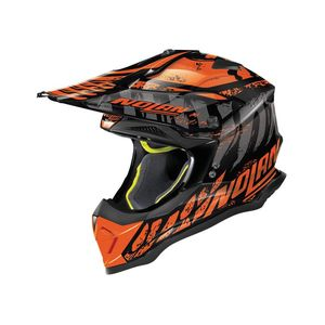 Casque cross N53 - SKELETON - BLACK ORANGE 2019 Glossy Black 58