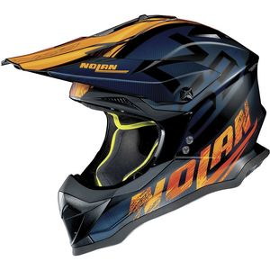 Casque cross N53 - WOOP - BLACK/BLUE ORANGE 2019 Flat black 47
