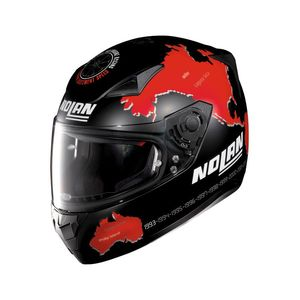 Casque N60.5 - GEMINI - REPLICA C.CHECA - FLAT BLACK RED  Flat Black 53
