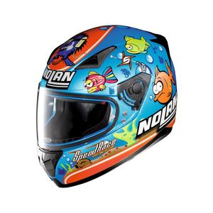 Casque N60.5 - GEMINI - REPLICA M.MELANDRI AQUARIUM  Metal Pearl Blue