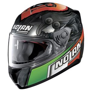 Casque N60.5 - GEMINI - REPLICA M.MELANDRI  Scratched Chrome 35