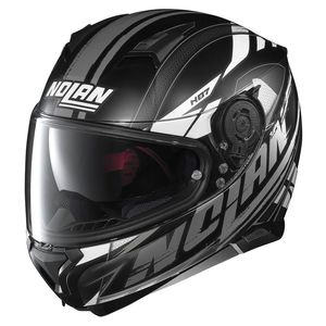 Casque N87 - FULMEN N-COM  Flat Black/White