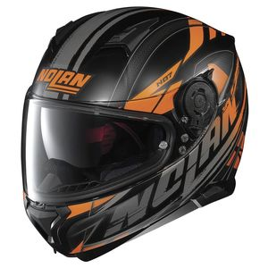 Casque N87 - FULMEN N-COM  Flat Black/Orange