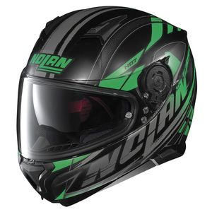 Casque N87 - FULMEN N-COM  Flat black/Green