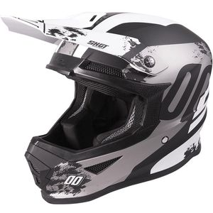 Casque cross FURIOUS - SHADOW - BLACK WHITE MATT 2020 Black White Matt