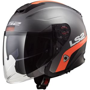 Casque OF521 - INFINITY - SMART  Matt Titanium Orange