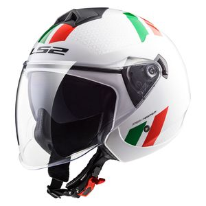 Casque OF573 - TWISTER COMBO  White Green Red