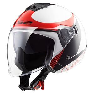 Casque OF573 - TWISTER PLANE  White Black Red