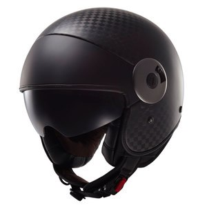 Casque OF597 - CABRIO C - SOLID CARBON  Carbone mat