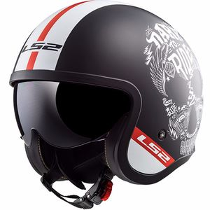 Casque OF599 - SPITFIRE - INKY  Matt Black White