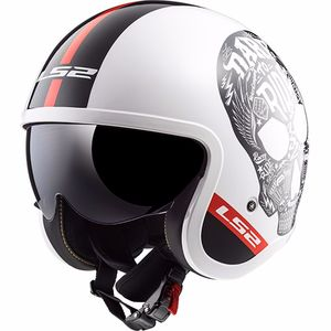 Casque OF599 - SPITFIRE INKY  White/black