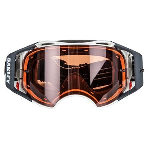 Masque cross AIRBRAKE MX - SPEED blanc mat écran PRIZM bronze 2018 Blanc