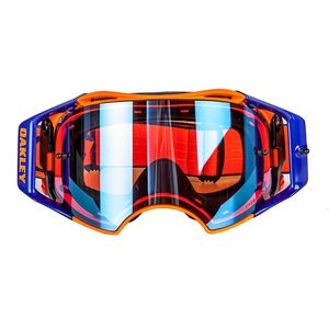 Masque cross AIRBRAKE MX - FLO orange bleu écran PRIZM iridium 2018 Orange/Bleu