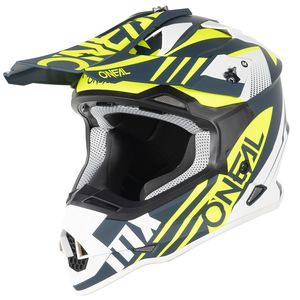 Casque cross 2 SERIES - SPYDE 2.0 - BLUE WHITE NEON YELLOW MATT 2021 Blue White Neon Yellow